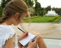 Young artist sketching. royalty free stock photo
