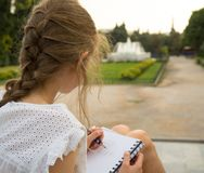 Young artist sketching. royalty free stock images