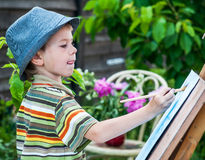 Young artist starting his work Royalty Free Stock Photography