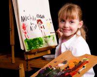 Young Artist at Work Royalty Free Stock Image