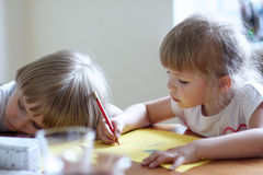 Young artist at work Royalty Free Stock Photography