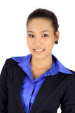 Young asain business woman on white Royalty Free Stock Images