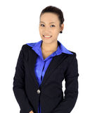 Young asain business woman on white Royalty Free Stock Image