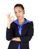 Young asain business woman on white Royalty Free Stock Photo