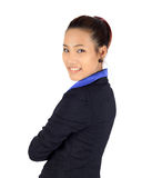 Young asain business woman on white Stock Image