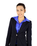 Young asain business woman on white Stock Images
