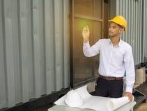 Young Asia man engineer. Royalty Free Stock Photos