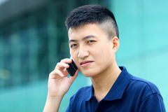 Man on mobile phone call Royalty Free Stock Photos