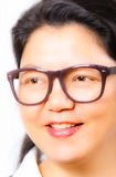 Young Asia woman with retro eyeglasses. Young Asia woman from China with retro eyeglasses Royalty Free Stock Photo