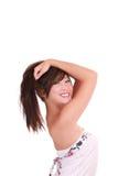 Young Asian American teen girl big smile Stock Photos