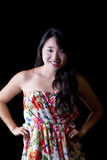 Young Asian American Woman Dress Attractive Studio Royalty Free Stock Image
