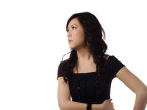 Young Asian American Woman Profile Looking To Side Stock Photos