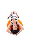 Young Asian American woman reclining Stock Photography