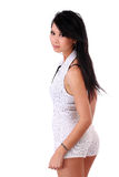 Young Asian American woman in shorts outfit Royalty Free Stock Photos