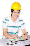 Young Asian Architect at Work Royalty Free Stock Images