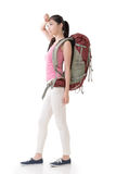 Young Asian backpacker Stock Photography