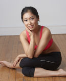 Young Asian Beauty Exercising Stock Photography