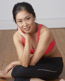 Young Asian Beauty Exercising Stock Images