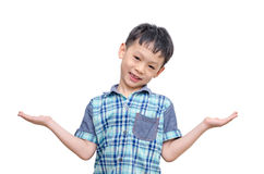 Young Asian boy showing copy space Stock Photography
