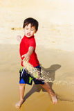 Young Asian Boy On Vacation Royalty Free Stock Photo