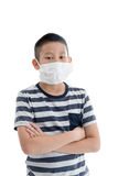 Young Asian boy wearing mask Stock Photography