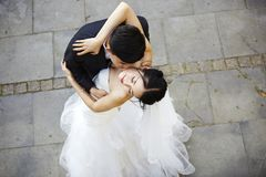 Young asian bride and groom dancing Stock Photography