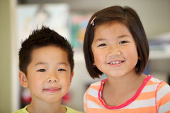 Young asian brother and sister Royalty Free Stock Images