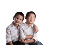 Young Asian Brothers Stock Image