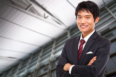 Young Asian business man stock image