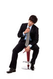 Young Asian business man with stress Royalty Free Stock Images