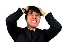 Young Asian Business man stressed.  stock photography