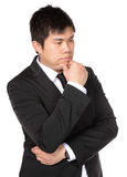 Young asian business man thinking Stock Image