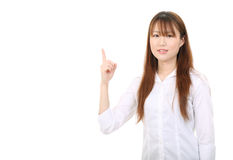 Young asian business woman Stock Images