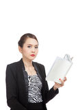 Young Asian business woman with a book Stock Image