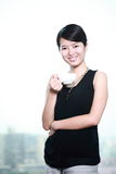 Young asian business woman with cofee Stock Image
