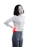 Young Asian business woman got back pain royalty free stock photo