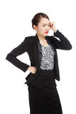 Young Asian business woman got sick and  headache Stock Photography