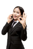 Young asian business woman Royalty Free Stock Photos