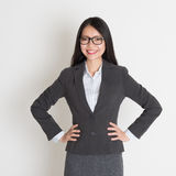 Young Asian business woman smiling Stock Images