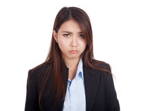 Young Asian businesswoman is in bad mood Stock Photography