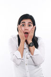 Young Asian Businesswoman Excited and Surprised Stock Photos