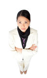 Young Asian businesswoman with folded arms Royalty Free Stock Photos