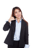 Young Asian businesswoman gesturing phone call Royalty Free Stock Photo
