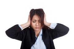 Young Asian businesswoman got headache Stock Images