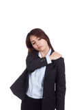 Young Asian businesswoman got  shoulder  pain Royalty Free Stock Photo