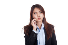Young Asian businesswoman got toothache Royalty Free Stock Photography