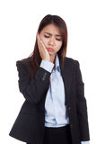 Young Asian businesswoman got toothache Royalty Free Stock Photo