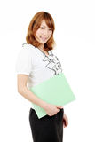 Young asian businesswoman holding file document Stock Image