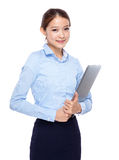 Young asian businesswoman with laptop computer Stock Image