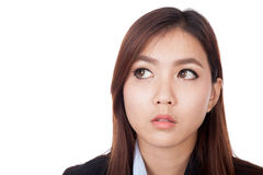 Young Asian businesswoman look away to copy space Stock Photography